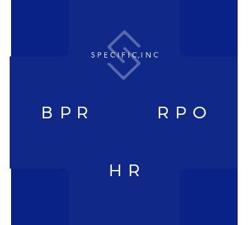 ICT,BPR,HRの3事業を基に組織づくりを進め、専門家の方々へスポット的なサービス・価値を提供していることを示す注釈図